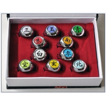 Anéis Akatsuki Naruto Anéis Caixa Com 10 Pronta Entrega