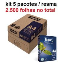 5 Resma Papel Sulfite A4 Report Frete Grátis 2500 Folhas