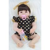 Boneca Bebê Reborn Silicone Parece De Verdade Brinquedo