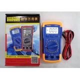 Tester Multimetros Digital Pantalla Led Con Bateria Y Sonido