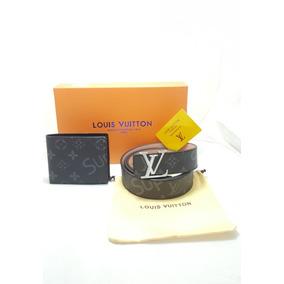 Cinturon Louis Vuitton + Regalo Cartera Lv Supreme Envío Grt