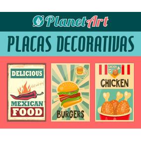 Placas Mdf 30x20 Comida Bebida Frases Vintage