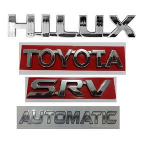 Kit Emblemas Toyoya Hilux Srv Automatic