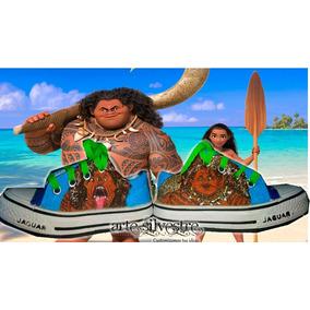 Zapas Pintadas A Mano Customizada Personalizada Maui Moana