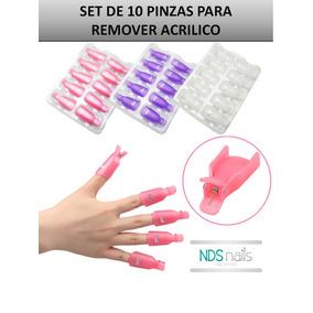 Kit Pinzas Para Remover Acrilico Y Cualquier Sistema De Uñas