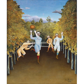 Futebol Esporte Football Pintura De Rousseau Na Tela Repro