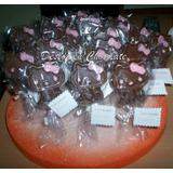 10 Chupetines Chocolate Hello Kitty Rosas Sin Tacc