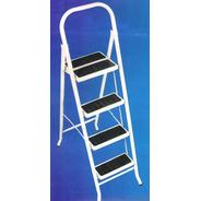 Escalera Metalica Plegable Reforzada 5 Escalon Acero Ind Arg