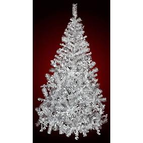 rbol de navidad blanco con plata de lujo mts sheshu