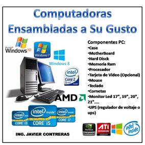 Computadoras Ensambladas Según Tu Requerimiento