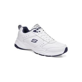 Tenis Skechers Deportivo Blanco Caballero Piel J80265