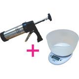 Maquina De Hacer Galletitas Manual + Balanza De Cocina 3 Kg