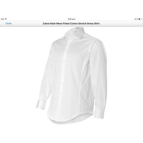 Camisa Calvin Klein De Vestir Blanca Talla L