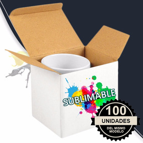 Cajas Sublimables Blancas De Carton Para Tazas X100 Unidades