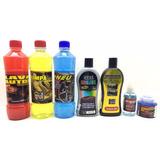 Kit Limpeza Lavagem Polimento P/ Veículos C/ 7 Produtos