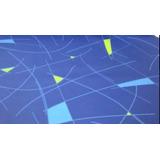 Tecido Courvin Para Ônibus Marcopolo Geometric Azul Escuro