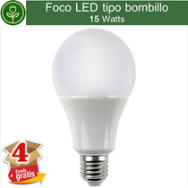 (4 Focos) Foco Led 15w Bombillo Lampara Ahorrador E27 Casa