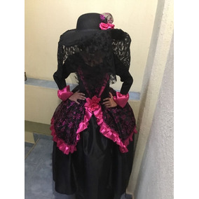Disfraz Catrina Con Sombrero Alta Costura Envio Gratis