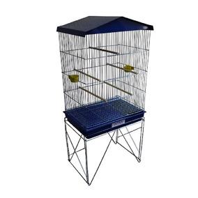 Viveiro Grande Para Pássaros Calopsita Canário Cor Azul
