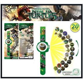 Reloj Digital Y Proyector De 20 Imagenes De Tortugas Ninja