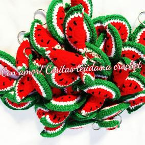 Souvenirs Tejidos A Crochet Llaveros Sandias Cumpleaños