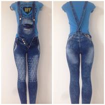 Macacão Calça Jeans Pit Bull - Usa Como Macacão Ou Calça