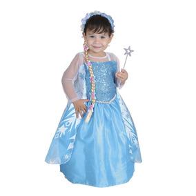 Vestido Disfraz Princesa Del Hielo Bebe. 18 A 24 Meses