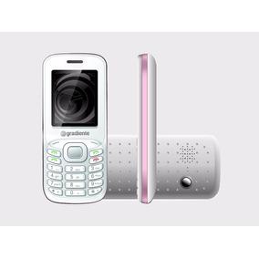 Celular Gradiente Rádio/mp3 - C90 Branco Rosa-barato! 3chips