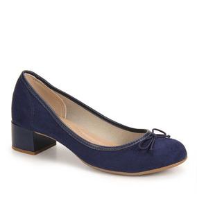Sapato Salto Conforto Feminino Beira Rio - Marinho