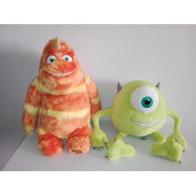 2 Peluches Monsters Inc Mike Y George Disney Store
