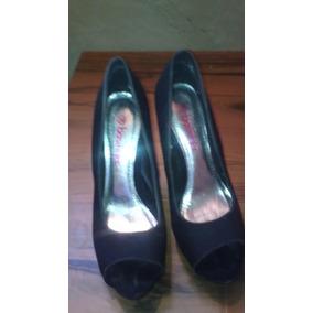 Zapatos De Dama Talla 38 Tacon Altos Negros