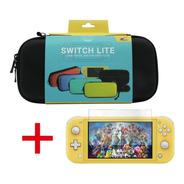 Kit X2 Funda Estuche Nintendo Switch Lite + Vidrio Templado