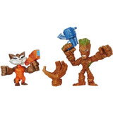 Marvel Super Hero Mashers - Micro Groot Y Rocket, Paquete D