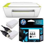 Impresora Hp 2135 + Tinta 664 Negro + 2 Resmas + Cable Usb