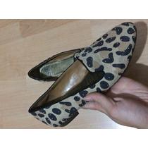 Zapatos Flats Gianni Binni Leopardo Piel 100% Originales!!