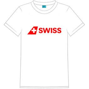 Camiseta Masculina C/ Logo Da Swiss Air Company