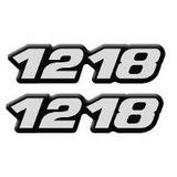 Par Emblema Resinado 1218 Caminhão Lateral Mercedes Benz