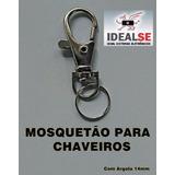 Mini Gancho Chaveiro Mosquetão Gancho Fecho Niquel Prateado
