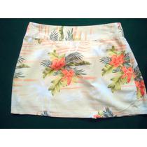 Minifalda Floreada Estilo Hawaiana, Mediana Envio Gratis