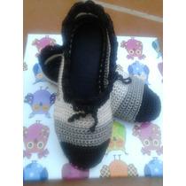 Zapatos Tejidos En Crochet