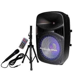 Bafle O Bocina Audiobahn De 15 Con Tripie Y Microfono