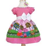 Vestido De Festa Infantil Fantasia Pepa Pig Pepa