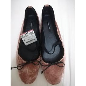 Chatitas Ballerinas De Terciopelo Importada