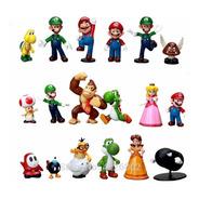Super Mario Bros Set 18 Figuras Coleccionables El Mas Grande