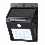 Lámpara Solar Led Con Sensor De Movimiento P/ Exterior Mfc15