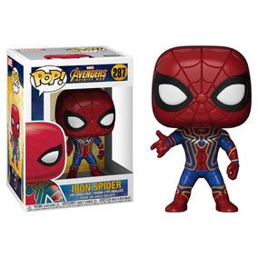 Set 4 Funkos Iron Spider+ Deadpool Bata Baño+ Cyborg + Flash
