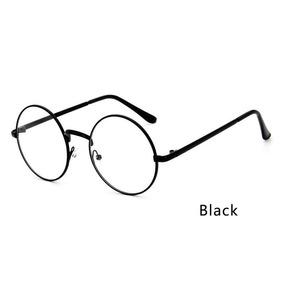 Óculos Redondo Armação Prateada 40 Mm - Óculos Preto no Mercado ... d3d9be767d