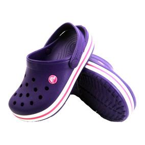 Zuecos De Goma Crocs Crocband Violeta Empo2000