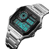 Reloj Militar Skmei Silver Metal Digital Impermeable Wow!