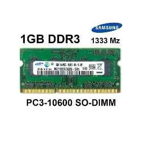 Memoria Ddr3 1gb Pc3-10600s 1333 Sodimm-laptop